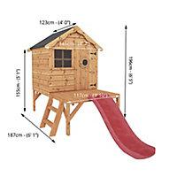 Mercia 8x10 Snug Apex Shiplap Tower slide playhouse