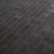 Metal ID Anthracite Concrete effect Porcelain Mosaic tile, (L)305mm (W)305mm