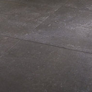 Metal ID Anthracite Matt Concrete effect Porcelain Floor tile, Pack of 3, (L)600mm (W)600mm