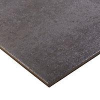 Metal ID Anthracite Matt Concrete effect Porcelain Floor tile, Pack of 3, (L)600mm (W)600mm