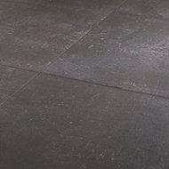 Metal ID Anthracite Matt Flat Concrete effect Porcelain Wall & floor Tile, Pack of 3, (L)600mm (W)600mm
