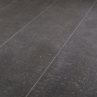 Metal ID Anthracite Matt Flat Concrete effect Porcelain Wall & floor Tile, Pack of 6, (L)600mm (W)300mm