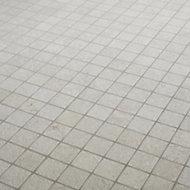 Metal ID Light grey Concrete effect Mosaic Porcelain Mosaic tile, (L)305mm (W)305mm
