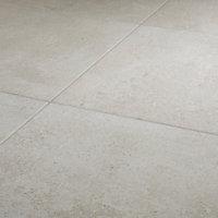 Metal ID Light grey Matt Concrete effect Porcelain Floor tile, Pack of 3, (L)600mm (W)600mm