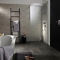 Metal ID Light grey Matt Flat Concrete effect Porcelain Wall & floor Tile, Pack of 6, (L)600mm (W)300mm