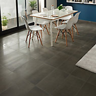 Metalized Grey Concrete effect Porcelain Floor tile, Pack of 6, (L)600mm (W)300mm