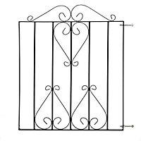 Metpost Ludlow Metal Scroll top Gate, (H)0.97m (W)0.83m