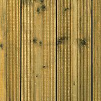 Metsä Wood Nevou Spruce Deck board (L)1.8m (W)120mm (T)24mm