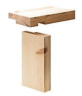 Metsä Wood Redwood pine Internal Door lining set 2100mm 108mm