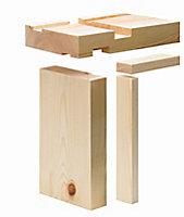 Metsä Wood Redwood pine Internal Door lining set 2100mm 132mm