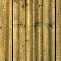 Metsä Wood Spruce Deck board (L)1.8m (W)120mm (T)24mm of 5