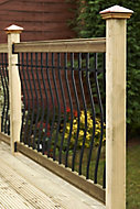 Metsä Wood Tuscany Pine Decking rail kit, 0.32m²