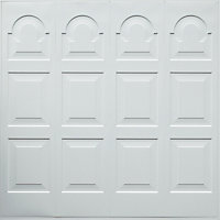 Michigan Made to measure Framed White Retractable Garage door