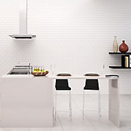 Millenium White Gloss Brick effect Ceramic Wall tile, Pack of 6, (L)600mm (W)300mm