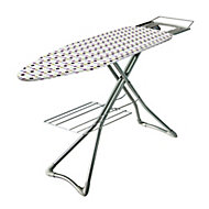 Minky Silver effect Ironing board
