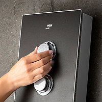 Mira Decor Dual Black onyx Electric Shower, 10.8kW