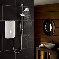 Mira Sport Max Airboost White Chrome effect Electric Shower, 10.8kW