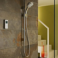 Mira Vision Pumped Ceiling fed Chrome effect Thermostatic Digital mixer Shower
