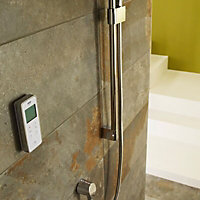 Mira Vision Pumped Rear fed Chrome effect Thermostatic Digital mixer Shower