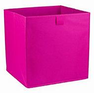 Mixxit Pink Fabric Foldable Storage basket (H)310mm (W)310mm