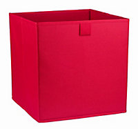 Mixxit Red 29.7L Non-woven fabric & polyester (PES) Foldable Storage basket (H)310mm (W)310mm
