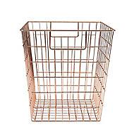 Mixxit Wire Copper effect Metal Storage basket (H)310mm (W)310mm
