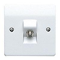 MK White Single F-type socket