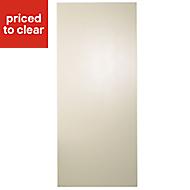 Cooke & Lewis Raffello High Gloss Cream Fridge/Freezer Cabinet door (W)600mm