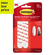 3M Command White Plastic Mounting/refill strips, Pack of 6