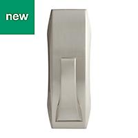 3M Command Modern Silver Brushed nickel Plastic Bath hooks, Set