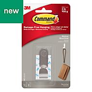 3M Command Modern Silver Metal Medium hook