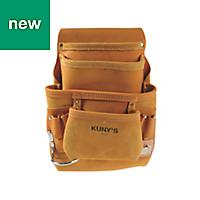 Kunys Full-Grain Leather Carpenters Nail & Tool Belt