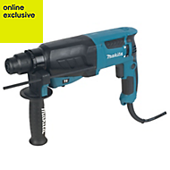 Makita 800W 240V Corded SDS plus Brushed Hammer drill HR2630