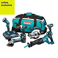 Makita LXT Cordless 18V 5Ah 6 piece Power tool kit DLX6072PT