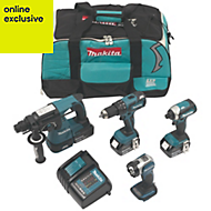 Makita LXT Cordless 18 V 4Ah 4 piece Power Tool Kit