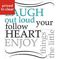 Wallpops Laugh out loud Multicolour Self adhesive Wall sticker (H)330mm (W)740mm