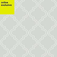 Wallpops Grey Quatrefoil Smooth Wallpaper