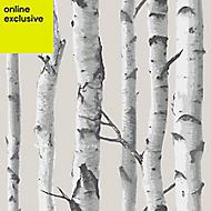 Wallpops Grey Birch tree Smooth Wallpaper