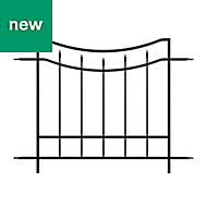Panacea Curved Traditional Railings, (L)1.22m (H)0.91m (T)20mm