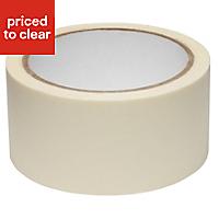 B&Q Cream Masking tape (L)25m (W)50mm