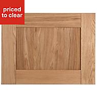 Cooke & Lewis Chesterton Solid Oak Belfast sink Cabinet door (W)600mm
