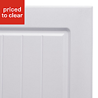 IT Kitchens Chilton White Country Style Belfast sink Cabinet door (W)600mm