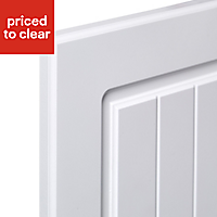 IT Kitchens Chilton White Country Style Standard Cabinet door (W)500mm