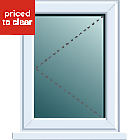 White PVCu LH Side hung Window (H)820mm (W)620mm