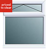 White PVCu Top hung over fixed lite Window (H)820mm (W)620mm
