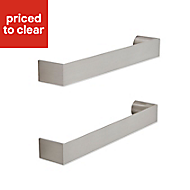 IT Kitchens Brushed Nickel effect Square bar Cabinet handle, Pack of 2