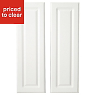 IT Kitchens Chilton Gloss White Style Larder Cabinet door (W)300mm, Set of 2