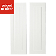 IT Kitchens Chilton White Country Style Larder Cabinet door (W)300mm, Set of 2
