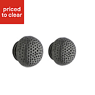 Premium Kitchens Antiqued Pewter effect Round Cabinet knob, Set of 2