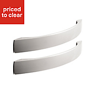 IT Kitchens Brushed Nickel effect Curved Cabinet handle, Pack of 2